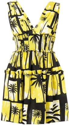 Fausto Puglisi palm tree printed dress