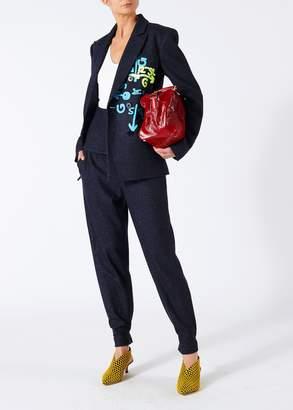 Tibi Tweed Stripe Steward Blazer with Removable Waist Detail