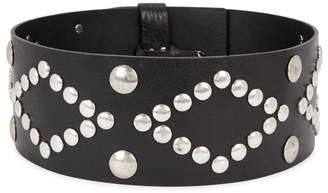 Isabel Marant Zikka Black Studded Leather Belt
