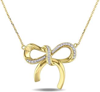 Diamond Select Cuts 14K 0.20 Ct. Tw. Diamond Bow Necklace