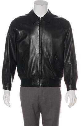 Salvatore Ferragamo Leather Zip Bomber Jacket black Leather Zip Bomber Jacket