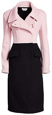 Alexander McQueen Women's Hybrid Bi-Color Wool Coat