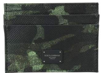 Dolce & Gabbana Camouflage Print Card Holder