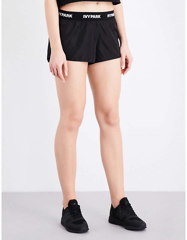 Logo-print running shorts