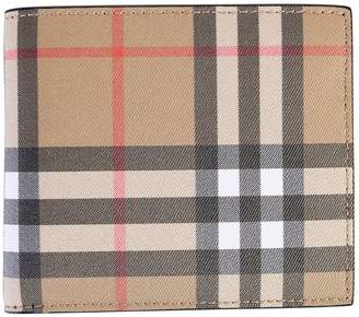 Burberry Brown Checked Wallet