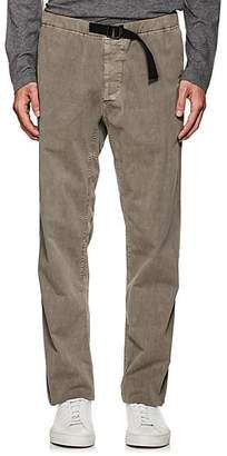 James Perse MEN'S COTTON RELAXED BELTED PANTS - GRAY SIZE 2
