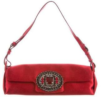 Jimmy Choo Crystal Embellished Satin Evening Bag