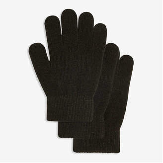 Joe Fresh Kid Boys' 3 Pack Gloves, Black (Size O/S)