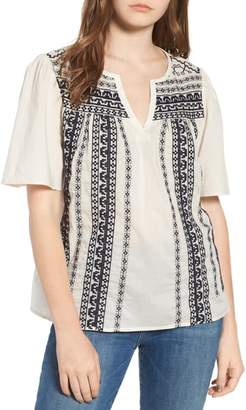 Hinge Embroidered Top