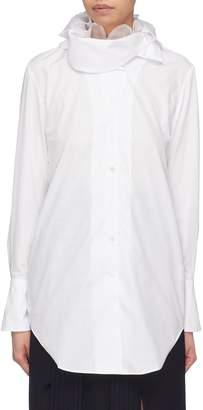 Akiko Aoki Organdy ruffle collar cotton-silk shirt