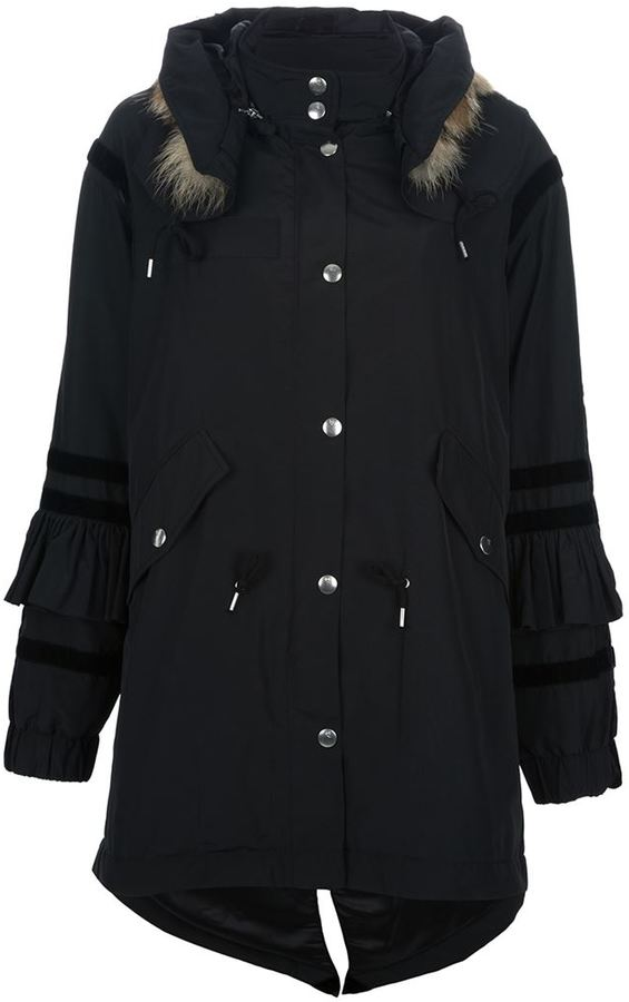 McQ by Alexander McQueen fur hooded parka