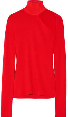 Dion Lee Cutout Merino Wool-blend Turtleneck Sweater - Red