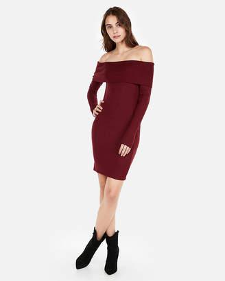 Express Cozy Off The Shoulder Sheath Dress
