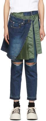 Sacai Blue Skirt Jeans