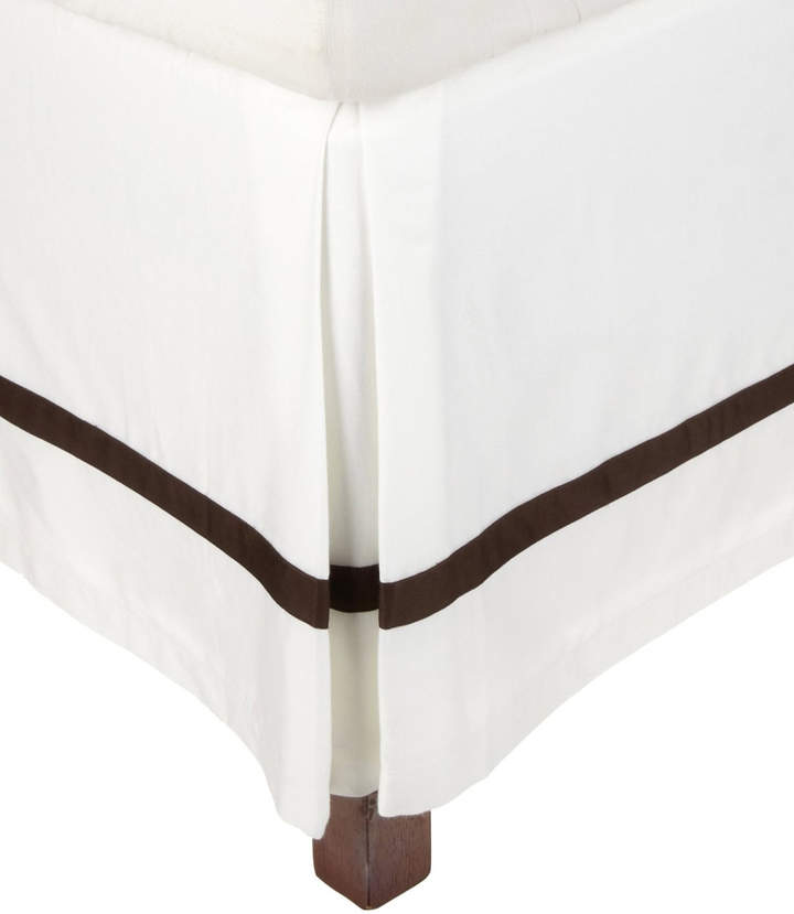 White/ & Chocolate Hotel Collection Cotton Bed Skirt