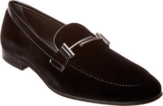 Tod's Double T Velvet Loafer