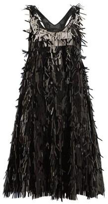 d802238c3e0c Norma Kamali Sequin Fringed Mini Dress - Womens - Black