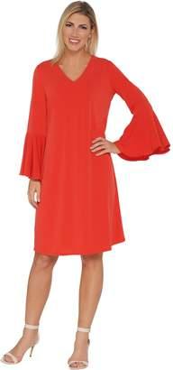 Susan Graver Liquid Knit Bell Sleeve Dress