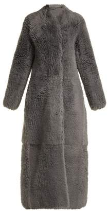 The Row Tralman Shearling Coat - Womens - Grey