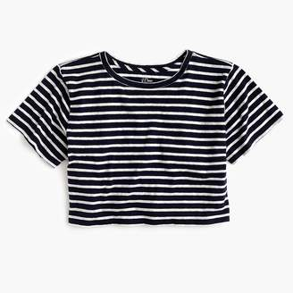 J.Crew Cropped striped T-shirt