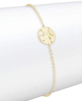 Saks Fifth Avenue 14K Yellow Gold Sand Dollar Bracelet