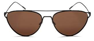 Oliver Peoples Women's Floriana Brow Bar Cat Eye Sunglasses, 56mm
