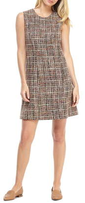 Gal Meets Glam Ramona Sleeveless Tweed Shift Dress