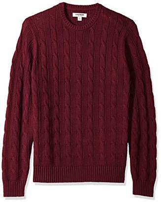Goodthreads Men's Standard Soft Cotton Cable Stitch Crewneck Sweater