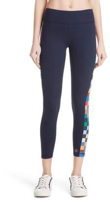 Tory Sport Checker 7/8 Leggings