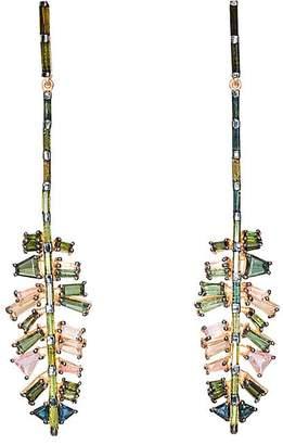 Nak Armstrong Women's Culebra Leaf Double-Drop Earrings