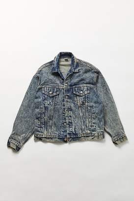 Urban Renewal Vintage Dark Acid Wash Denim Jacket