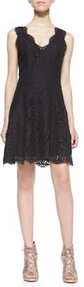 Joie Nikolina Sleeveless Lace A-Line Dress