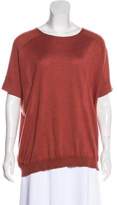 Brunello Cucinelli Cashmere Short Sleeve Top