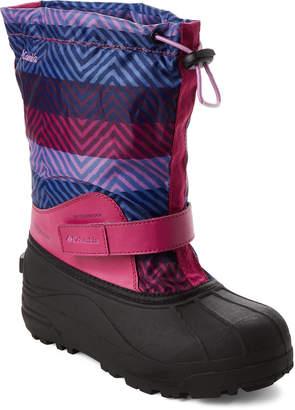 Columbia Toddler Girls) Deep Blush Powderbug Forty Print Snow Boots
