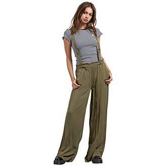 Volcom Junior's Dreamt It Up High Waisted Wide Leg Suspender Pants