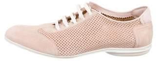 Sergio Rossi Suede Low-Top Sneakers pink Suede Low-Top Sneakers