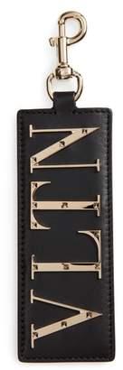 Valentino Logo Leather Bag Charm/Key Holder