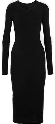 Enza Costa Cadet Twist-Back Cotton And Cashmere-Blend Midi Dress