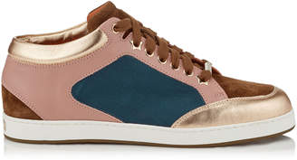 Jimmy Choo MIAMI Seasonal Mix Satin and Leather Sneakers