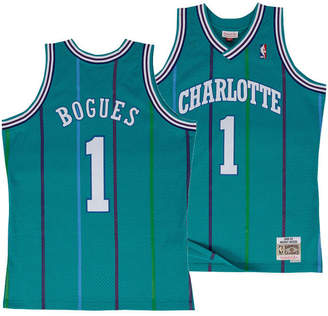 58f96bc800b3 Mitchell   Ness Big Boys Muggsy Bogues Charlotte Hornets Hardwood Classic Swingman  Jersey