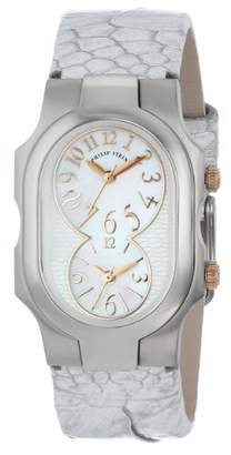 "Philip Stein Teslar Women's 1-MOPRG-OMW ""Signature"" Stainless Steel Watch with Leather Band"