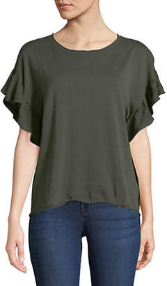 Autumn Cashmere Relaxed Ruffle Tee