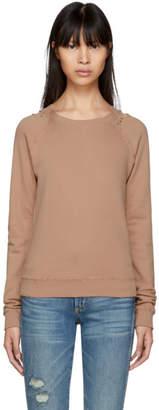 Amo Pink Distressed Raglan Sweatshirt