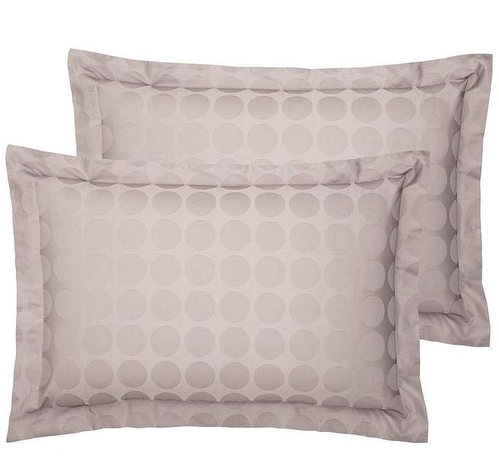 Luxury 300 Thread Count Soft Touch Circle Oxford Pillowcases Pair