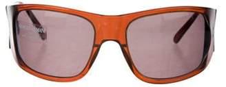 Giorgio Armani Tinted Shield Sunglasses Brown Tinted Shield Sunglasses
