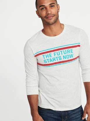 Old Navy Soft-Washed Graphic Long-Sleeve Tee for Men
