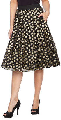 Ronni Nicole Womens High Waisted Midi Full Skirt