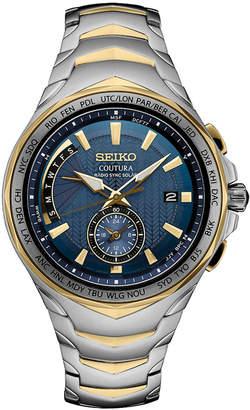 Seiko Men's Solar Coutura Radio Sync Two-Tone Stainless Steel Bracelet Watch 45mm