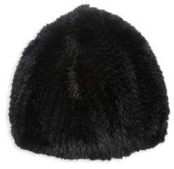 The Fur Salon Knit Mink Fur Beret