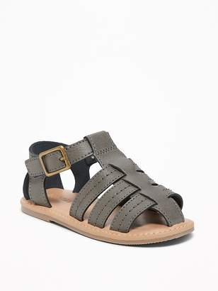 Old Navy Faux-Leather Fisherman Sandals for Toddler Boys